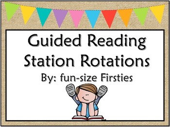 Guided reading station cards