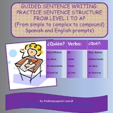 Guided sentence writing: From simple to complex sentences
