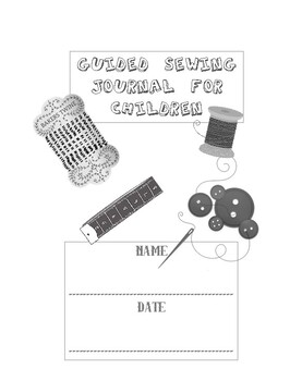 Guided sewing journal for children