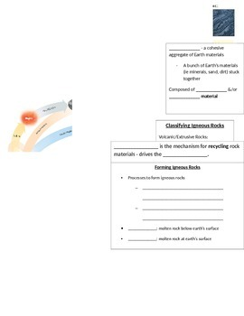 Guided (skeletal) Notes for Rocks PowerPoint