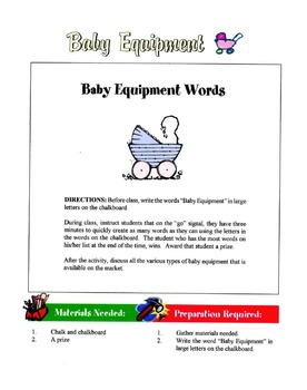 Guidelines For Baby Equipment Safety Lesson