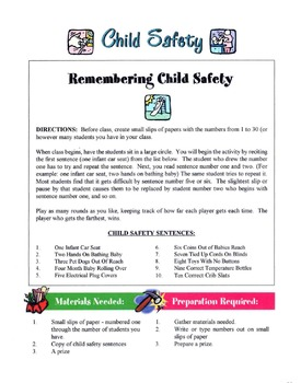 Guidelines For Child Safety In The Home & Car Lesson