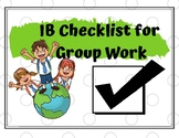 IB Checklist for Group Work