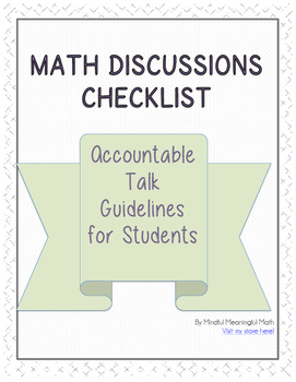 Guidelines for Math Discussions