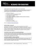 Guidelines for Teaching about the Holocaust
