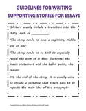 Guidelines for Writing Supporting Stories for Essays