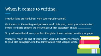 Guidelines for Writing a Basic Essay