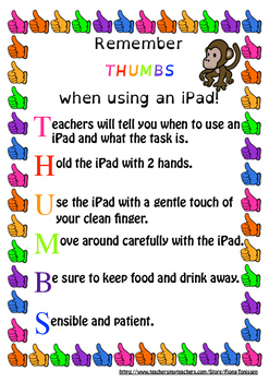 Guidelines for iPad use in classrooms