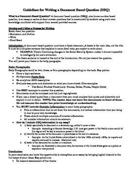 Help on writing a dbq essay