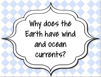 Guiding Questions for Science Unit on Weather Systems