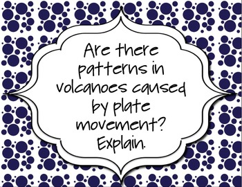 Guiding Questions for Unit on Forces that Change the Earth & Topographic Maps
