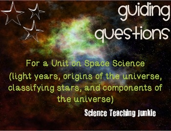 Guiding Questions for Unit on Space Science