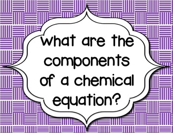 Guiding Questions for a Unit on Formulas, Equations & the Conservation of Mass