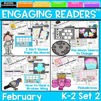 Guiding Readers: February SET TWO NO PREP ELA Unit for K-1