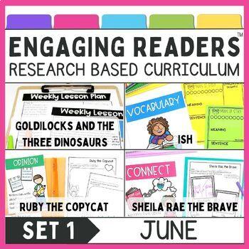Reading Comprehension: Engaging Readers: JUNE NO PREP ELA Unit for K-1