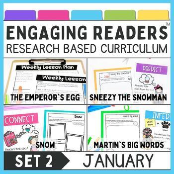 Guiding Readers: January SET TWO NO PREP ELA Unit for K-1