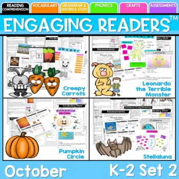 Guiding Readers: October SET TWO NO PREP ELA Unit for K-1