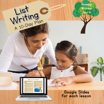 Guiding Writers: List Writing (A Kindergarten Writing Unit)