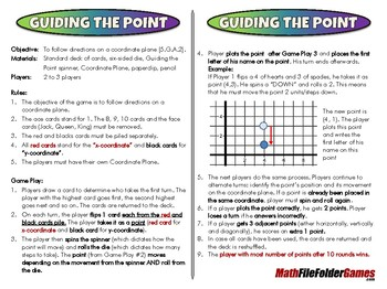Guiding the Point - 5th Grade Game [CCSS 5.G.A.2]