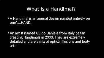 Guido Daniele's Handimals Art Lesson