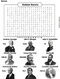 Gilded Age Robber Barons Word Search