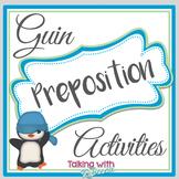 Guin Preposition Activities (Common Core aligned)