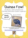 Guinea Fowl {craftivity, label a guinea fowl, character graphic organizer}