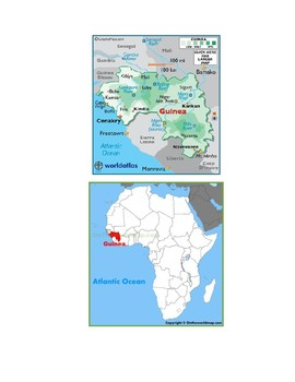 Guinea Map Scavenger Hunt