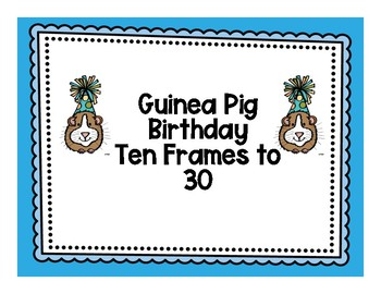Guinea Pig Birthday 10 Frame Match to 30