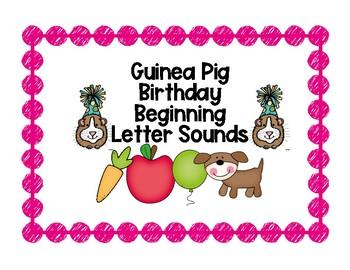 Guinea Pig Birthday Beginning Sound Match