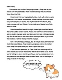 Guinea Pig Letter home for the weekend stay