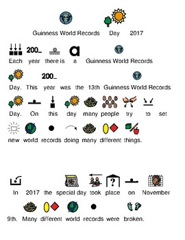 Guinness World Records 2017 - picture supported text lesson with visuals