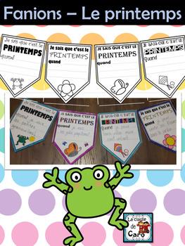 Guirlande avec fanions PRINTEMPS - FRENCH SPRING WRITING ACTIVITY