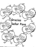 Thanksgiving Turkey  Wreath -El Pavo- Colors in Spanish