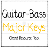 Guitar-Bass Major Key Chord Cards
