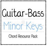 Guitar-Bass Minor Key Chord Cards