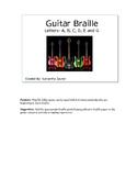 Guitar Braille File Folder Game