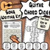 Guitar Chord Dice ~Bundle~ Song Writing Tool in The Key of C & G