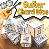 Guitar Chord Dice - Key of C Guitar Song Writing Kit