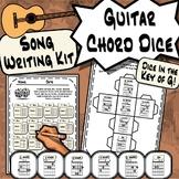 Guitar Chord Dice - Key of G Guitar Song Writing Kit