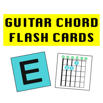 Guitar Chord Flash Cards By Julia Mammone Teachers Pay Teachers