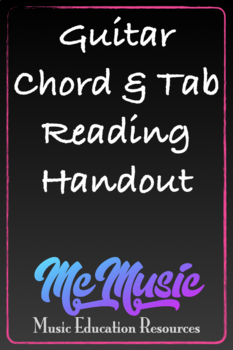 Swell Guitar Chord And Tab Reading By Mcmusic Teachers Pay Teachers Wiring Digital Resources Llinedefiancerspsorg