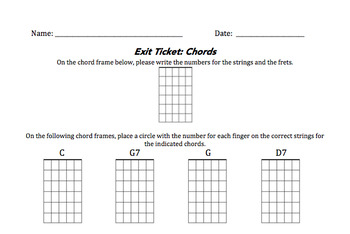 Guitar Chords Exit Ticket