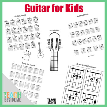 Guitar Chord Chart Teaching Resources | Teachers Pay Teachers