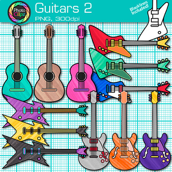 Guitar Clip Art | Acoustic & Electric Instruments for Music Resources