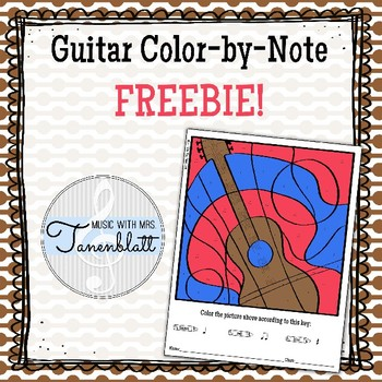 Guitar Color by Note Freebie