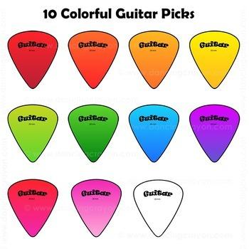 Guitar Chords: Clip Art Guitar Fingerings and Guitars