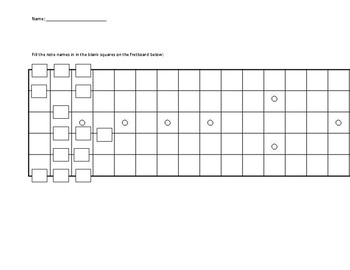 Guitar fretboard fill in the blank by middle school music shop tpt guitar fretboard fill in the blank sciox Gallery