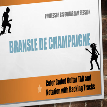 Guitar Jam Session -  Bransle de Champaigne Easy Guitar TABS and Notation