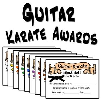 Guitar Karate Award Certificates